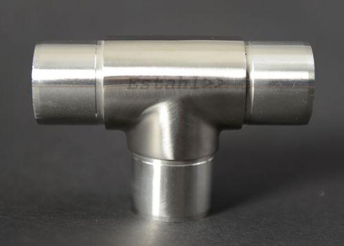 V2A - T-Verbinder für Rohrdurchmesser 42,4 mm