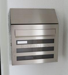 Edelstahl-Briefkasten