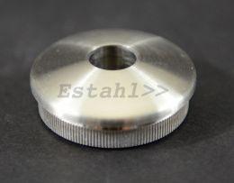 V2A - Endkappe leicht gewölbt mit Gewindebohrung Ø 42,4 mm