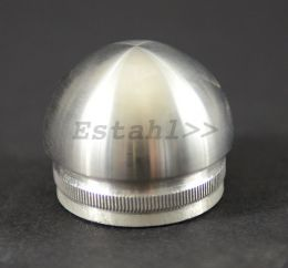 V2A - Embout en inox, rond, pour tube Ø 42,4 mm