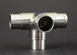 V4A - T-Stück mit Abgang für Rohrdurchmesser 42,4 mm