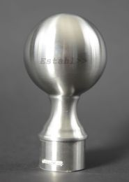 V2A - Kugel-Rohrkopf für Rohrdurchmesser Ø 42,4 mm